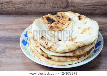 Nepalese/Indian Naan Flatbread made with Whole Wheat a plain Indian roti also know as plain tandoori roti.