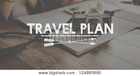 Travel Plan Tour Trip Vacation Tourism Traveling Journey Concept