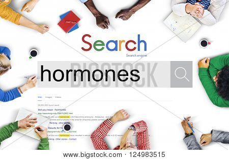 Hormones Behaviour Crime Health Concept