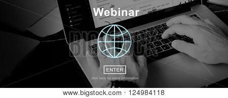 Webinar Webcast Education Knowledge Cloud Concept