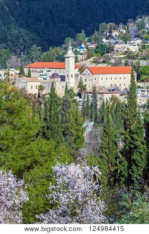 Catholic convent Ein Kerem Jerusalem city Israel