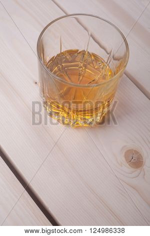 Whiskey On Light Wood