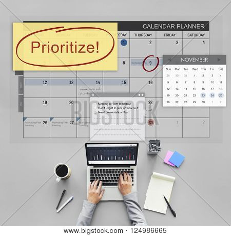 Prioritize Effective Importance Tasks Urgency Concept