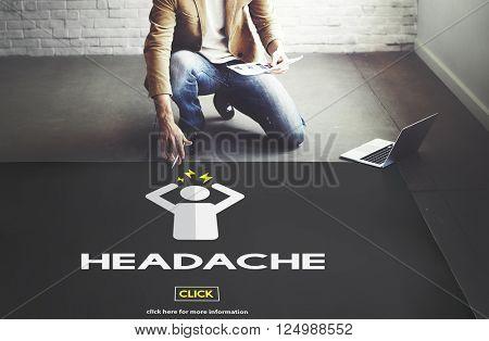 Depression Headache Stress Disorder Illness Concept