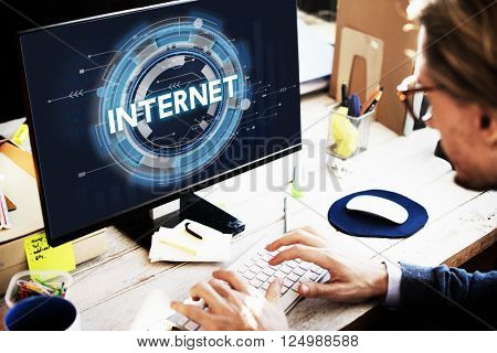 Internet Homepage Cyberspace Technology Connection Concept