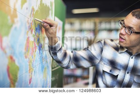 poster of Teacher Teach Teaching Geography Global Lesson Concept