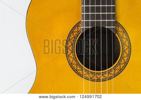 Nice decorative wooden acoustic guitar for guitarist
