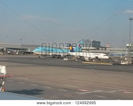 Boeing 747 Of The Korean Air Airlines
