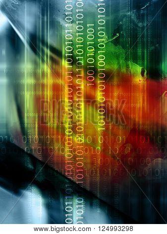 abstract code backdrop