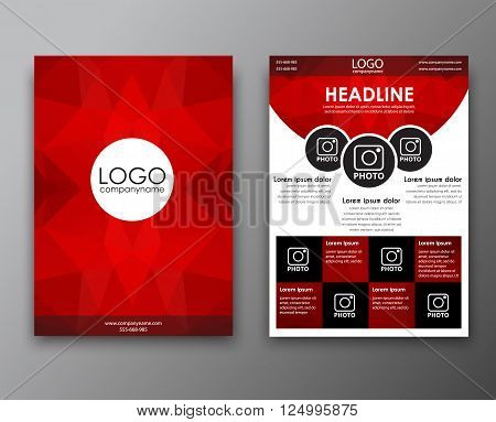 Brochure Design With Polygonal Background