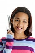 pic of tuning fork  - Picture of a child set on white background - JPG