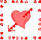heart Target of Amour Arrow background love illustration