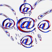 Internet Email @ Signs Flying