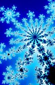 pic of mandelbrot  - A computer generated fractal resembling a blue starburst - JPG