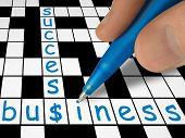 image of business success  - crossword  - JPG