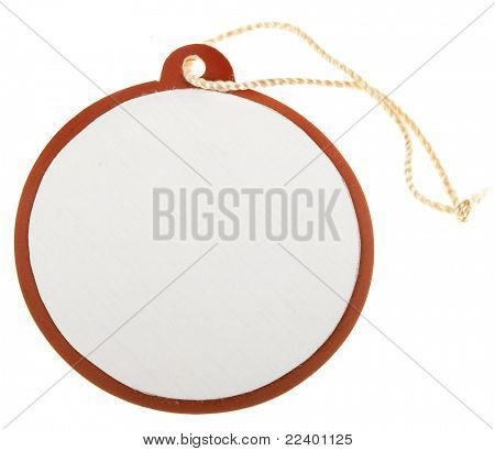 round tag isolated on white background