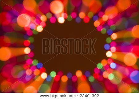 blur lights background with a place for your text