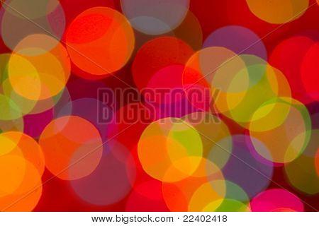 Defocused lights, multi-color background