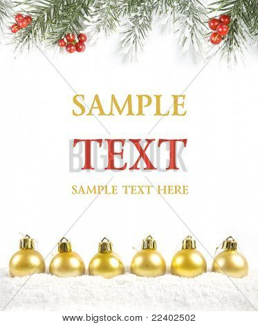 christmas card with copy space for your text