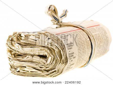 eine Reihe von alten Zeitungen