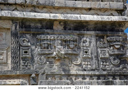 Mayan Hieroglyphics In Yucatan