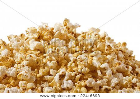 pop corn in caramel syrup , background