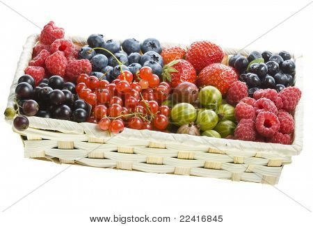 ripe berries in the box