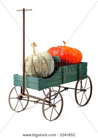 Wagen And Pumpkins