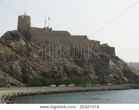 Oman - Muttrah's imponent Portuguese castle