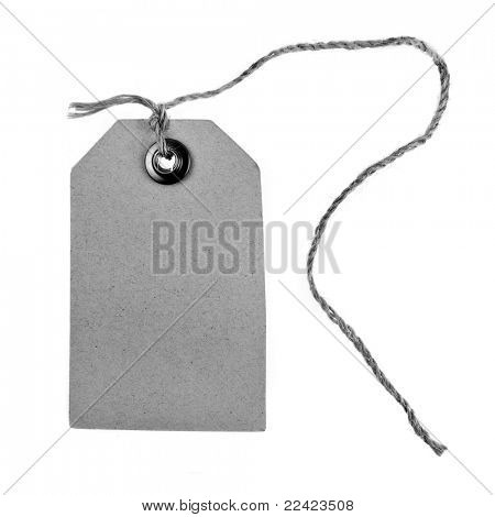 Blank price tag isolated on white