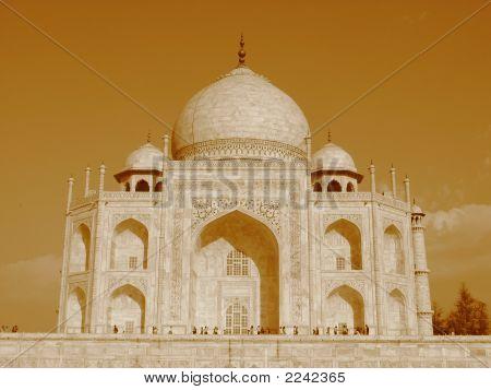 Taj Mahal In Sepia