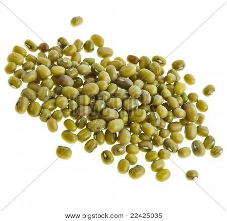 green soja beans isolated on white