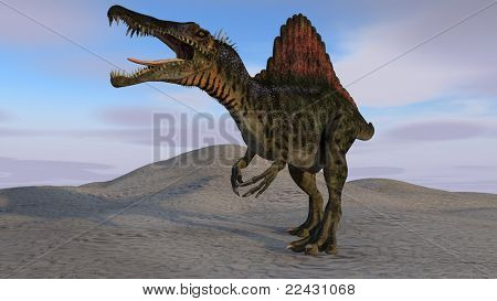 spinosaurus in desert