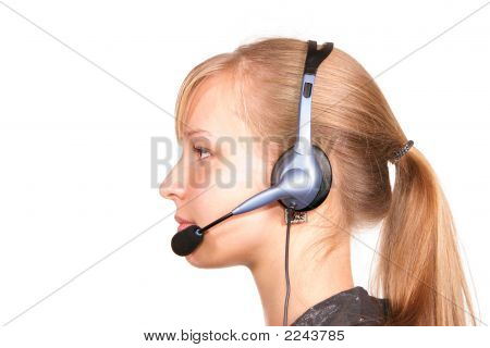 Customer Service Girl Isolated