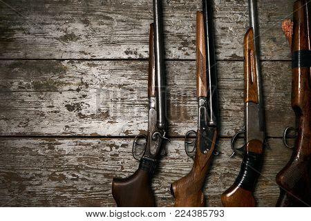 Hunting guns frame