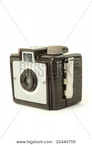 Old Photo Camera isolated on white