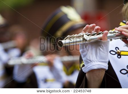 Marching band flute section
