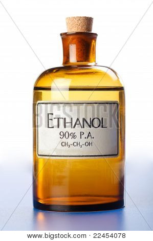 Ethanol, Pure Ethyl Alcohol In Bottle