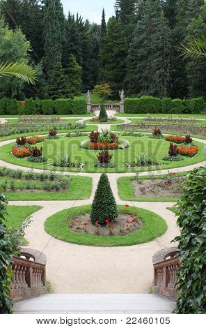 Gardens Of Konopiste Castle