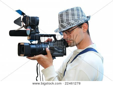 A Young Man With A Video Camera