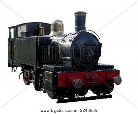 Tren a vapor miniatura negro