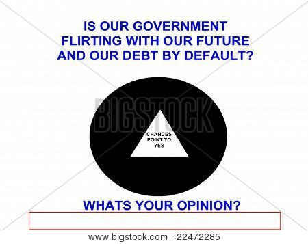 Government Debt 8 Ball Opinion Sign
