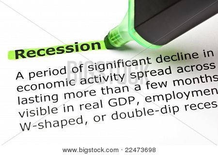 'recession' Highlighted In Green