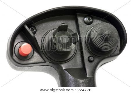 Joystick Detail Isolated