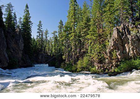 rushing rapids