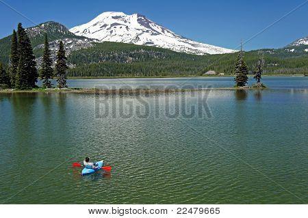 kayaker on a lake