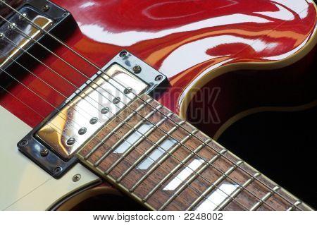 Red Semi-Acoustic Guitar