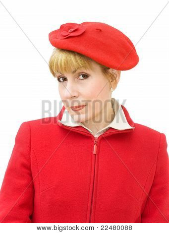 Portrait Of Woman In Red