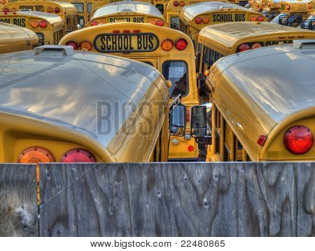 School Bus Parking Lot