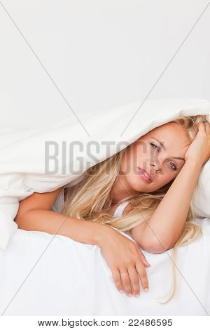 Portrait Of A Woman Waking Up
